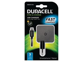 Duracell chargeur 5v 2.4a+ cable Micro usb