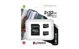 Kingston carte micro SD 2x32 GB 100mb /r