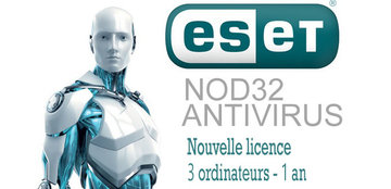 Antivirus NOD32 3PC 1an - Version électronique