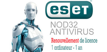 Renouvellement Antivirus NOD32 1PC 1an - Version électronique