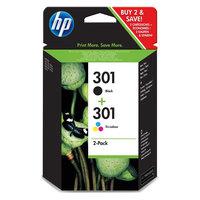 HP Combo 301 noir + couleur