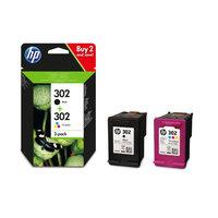HP Combo 302 noir + couleur